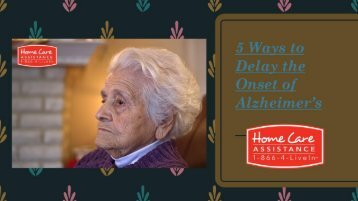 5 Ways to Delay the Onset of Alzheimer's