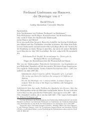 Ferdinand Lindemann - Mathematisches Institut der Ludwig ...