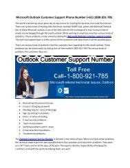 Outlook Customer Support Number 1-800-921-785 Australia