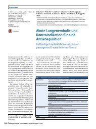 11 Akute Lungenembolie und Kontraindikation für eine Antikoagulation