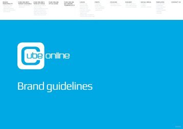 CUBE ONLINE BRAND GUIDELINES