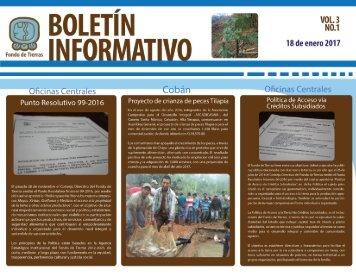 2017 BOLETINES ENERO, FEBRERO Y MARZO