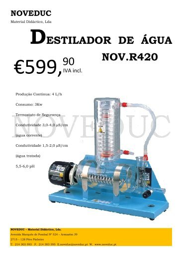 01 Destilador água