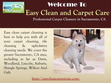 Carpet Cleaning Sacramento, CA  Easy Clean Carpet Care