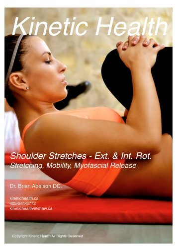 Shoulder Stretches - External and Internal Rotation