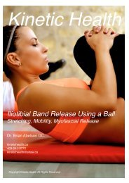 Iliotibial Band Release Using a Ball