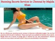 Stunning Escorts Services in Chennai by Majida Khan