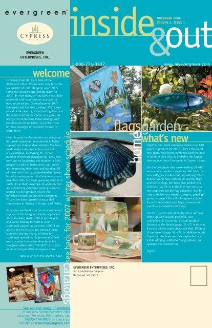 Volume 1, Issue 1 - November 2006 - Evergreen Enterprises, Inc.