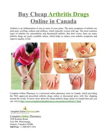 Buy Cheap Arthritis Drugs Online in Canada