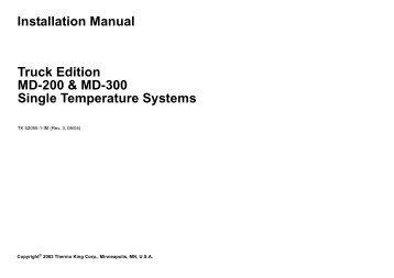 installation manual truck edition v 500 series thermo king rh yumpu com Honeywell Thermostat Installation Manual Quick Installation Guide
