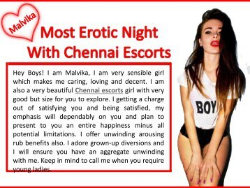 Most Erotic Night With Chennai Escorts
