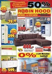 Robin Hood Möbel & Küchen - AKTIONSPREISWOCHEN! Jetzt bis zu 50% sparen!