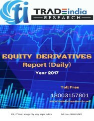 TradeIndia Research Daily Derivative Report for 19 Apr 2017