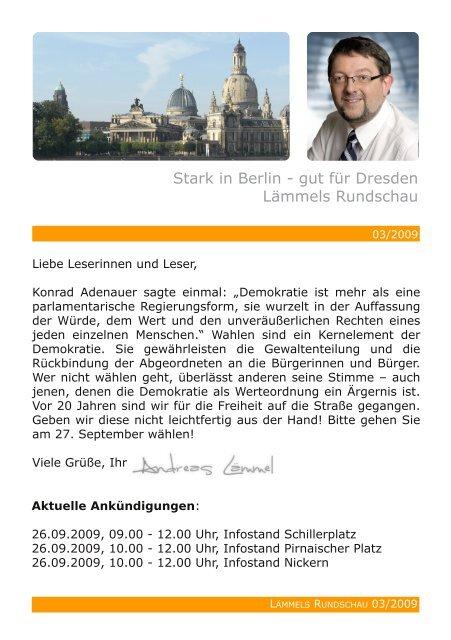 Stark in Berlin - gut für Dresden Lämmels ... - Lämmel, Andreas