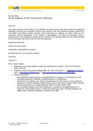 Social Aspects of Non-Proprietary Software - International Review of ...