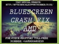 Call +448000465293|How to Fix Blue Screen of Death on Windows 7/8/10 by HP Technical Support Number?