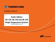 Installation Manual Trailer Edition SB-130, SB-230 ... - Thermo King
