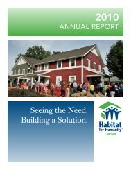 Seeing the Need. Building a Solution. - Habitat for Humanity Choptank