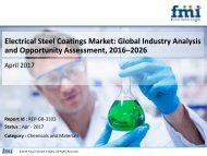 Global Electrical Steel Coating Market to be Valued at US$ 353.6 Mn by 2026-end