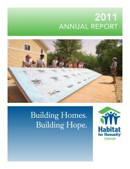 Building Homes. Building Hope. - Habitat for Humanity Choptank