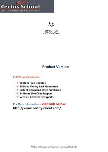HPE2-T30 Exams Study Guides