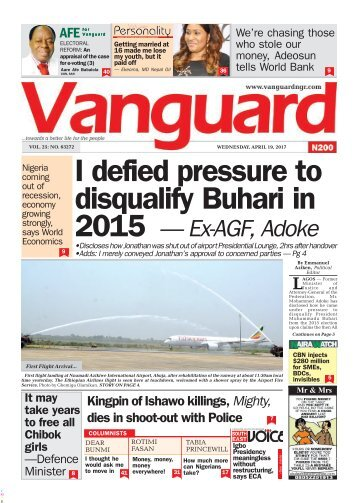 19042017 - I defied pressure to disqualify Buhari in 2015 - Ex-AGF, Adoke