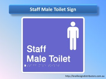 Staff Male Toilet Sign - Braille Sign Distributors