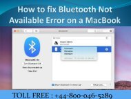 How to fix Bluetooth Not Available Error on a MacBook