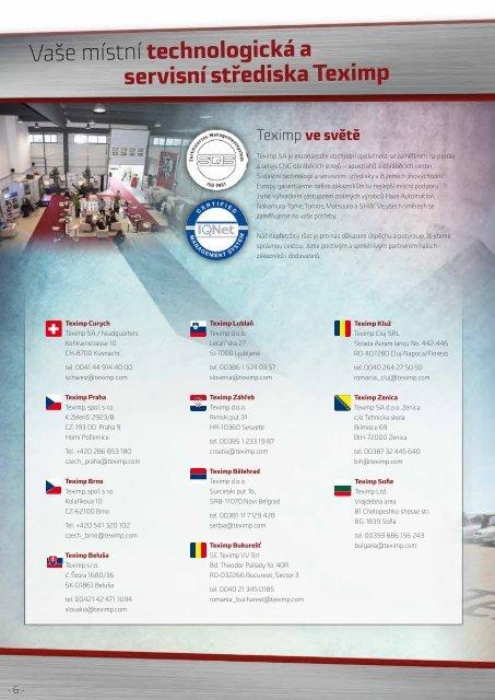 Teximp Product guide Czech Republic