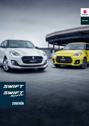 SWIFT & SWIFT Sport Zubehörprospekt