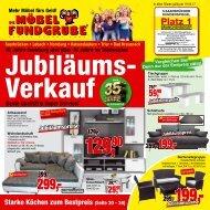 Die Möbelfundgrube KW 16  - Jubiläumsverkauf