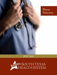 The Medical Staff - South Texas Health System