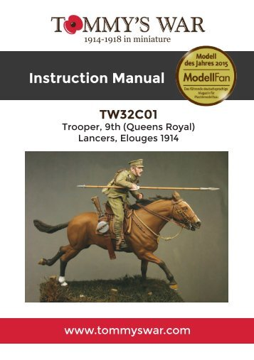 TW32C01 - Trooper, 9th Lancers instruction booklet