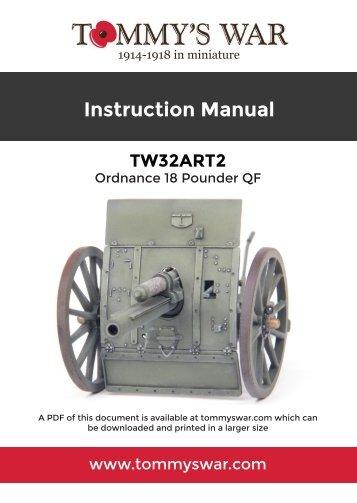 TW32ART2 Tommy's War Ordnance 18 pounder instructions