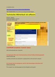 deutsch-englisch Texte: Leseproben zu edv/ Sensoren/ Technik/ Werkzeugmaschinen (wortschatz mechatroniker