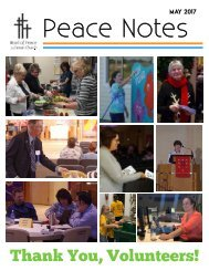 Peace Notes-May 2017 - Word of Peace Lutheran Church