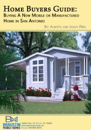 Home Buyers Guide - Buying A New Mobile or Manufactured Home in San Antonio