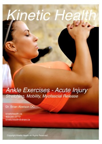 Ankle Exercises - Acute Injury