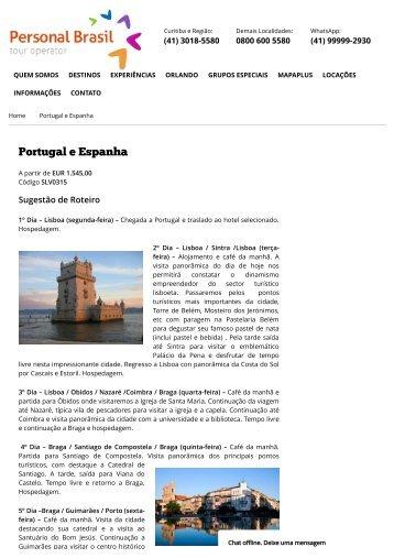 Portugal e Espanha - Personal Brasil Tour Operator