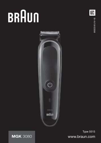 Braun MGK 3080 - MGK 3080 Manual (DE, UK, FR, ES, PT, IT, NL, DK, NO, SE, FI, GR)