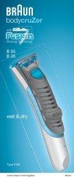 Braun BG5010, BG5030, B30, B35, B50, B55 - B55,  B35,  BodyCruzer Manual (LV, LT, EE)