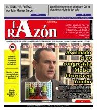 Diario La Razón jueves 20 de abril