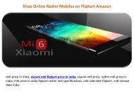 mi6 flipkart amazon price