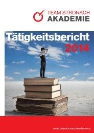 Team Stronach Akademie Tätigkeitsbericht 2014