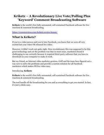 Kriketz review demo and premium bonus