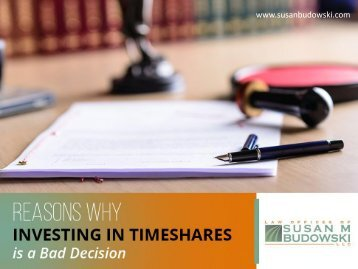 How Timeshares are Bad Investments