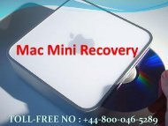 How to fix Mac Mini Recovery Error +448000465289