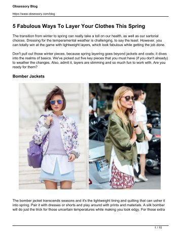 5 Fabulous Ways To Layer Your Clothes This Spring