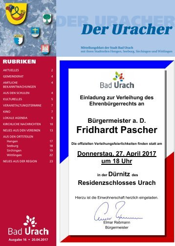 Der Uracher KW 16-2017