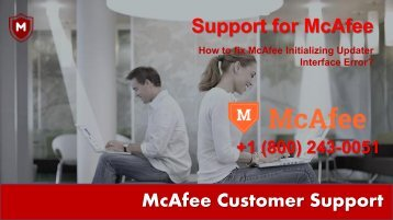 How to fix McAfee Initializing Updater Interface Error | 1800-448-1840 Support